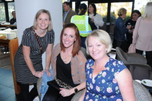Sergeant Sharmaine Ward; Senior Constable Shannon McMahon and Sergeant Mel Death pictured enjoying the Women In Policing High Tea at the Country Club Casino on Saturday 3rd June.