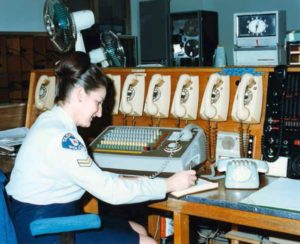 The ESCAD project is a far cry from the old Hobart Radio Room, Constable Marion Hays in the mid 1980s