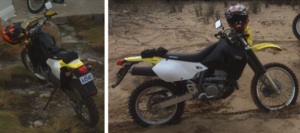 Police are trying to locate a Suzuki DRZ400E motorcycle stolen from a property in Burnie some time between 4-7 October. The motorcycle features a 20 litre endure tank and a black seat.