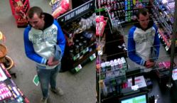 Police are seeking public assistance to identify the man pictured below in relation to a matter that occurred at the BP service station at Stoney Rise, Devonport.
