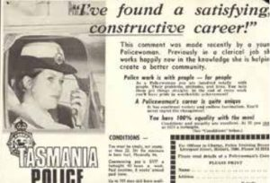 "A recruitment ad from the 1970s describes policing as a ""fascinating life"" for women"