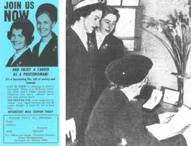 An article in 1952 calls for a 7th Lady Cop to join the force, (courtesy of The Mercury)