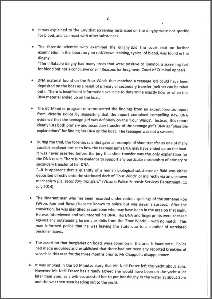 Response to claims made by the 60 Minutes program - Page 2
