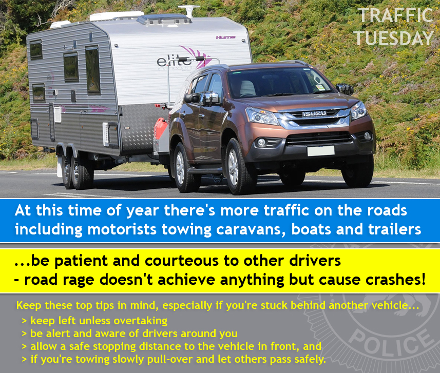 Traffic Tuesday Caravans graphic