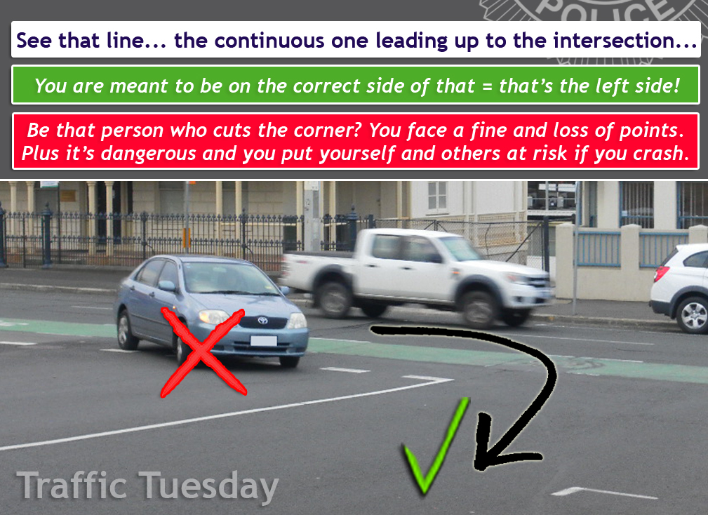 Traffic Tuesday Cutting Corners graphic