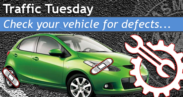 Traffic Tuesday graphic Vehicle Defects