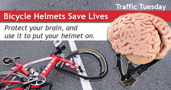 Traffic Tuesday Bicycle Helmets graphic