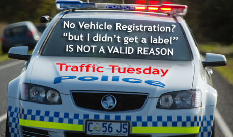 Traffic Tuesday graphic - Unregistered Vehicle