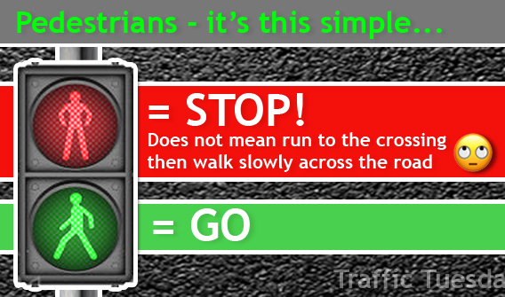 Traffic Tuesday Pedestrian Lights graphic