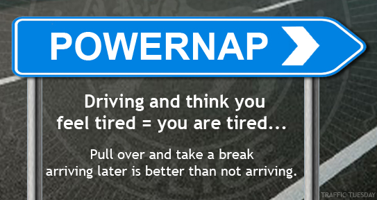 Traffic Tuesday graphic Powernap
