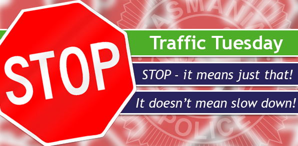 Traffic Tuesday graphic STOP