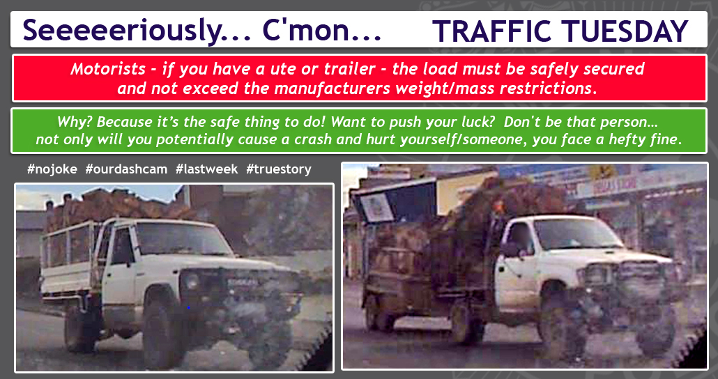 Traffic Tuesday graphic Unsecured Loads