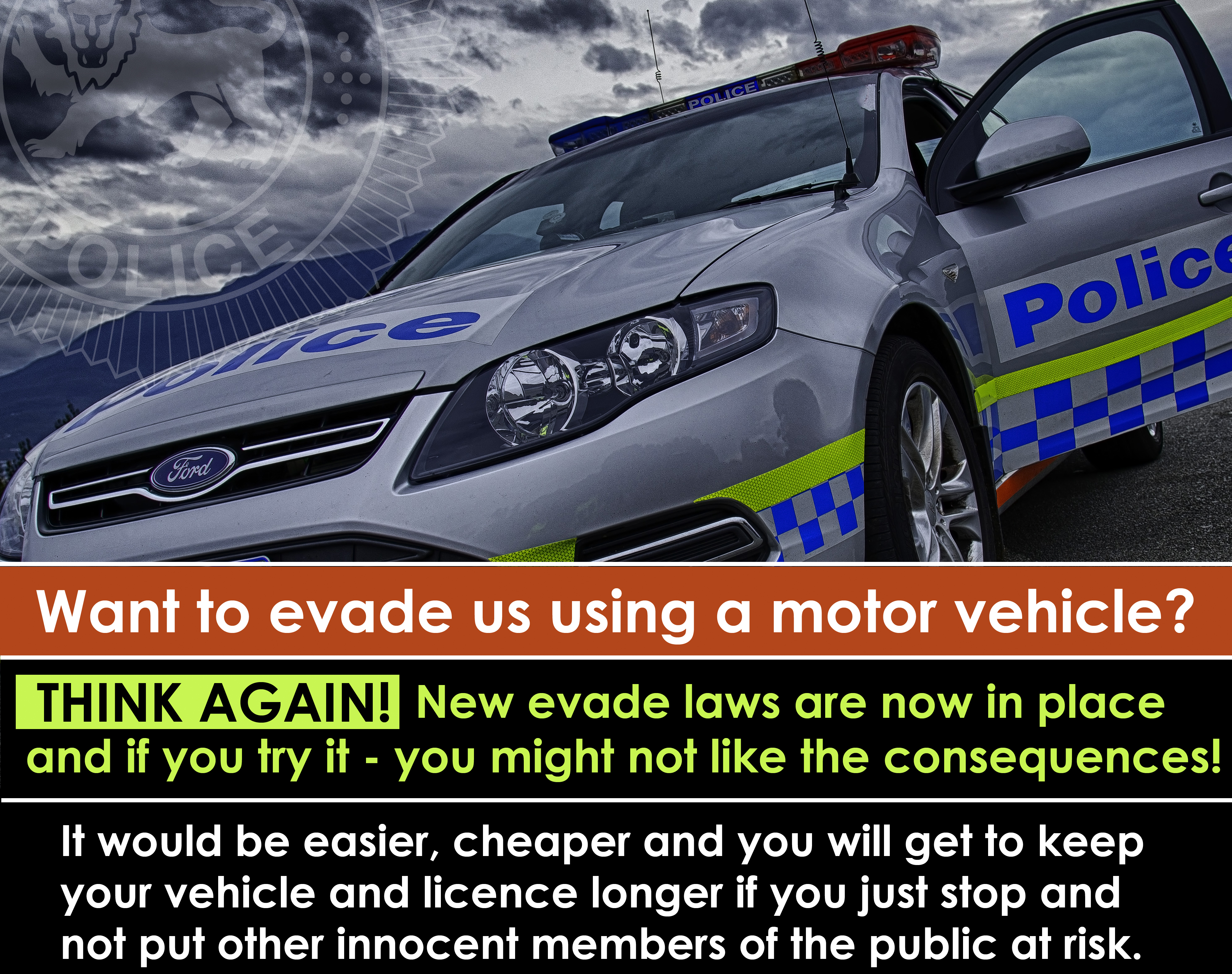 Traffic Tuesday graphic new evade laws