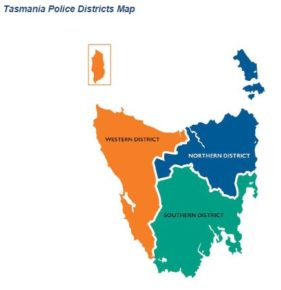 Tasmania Police Districts Map