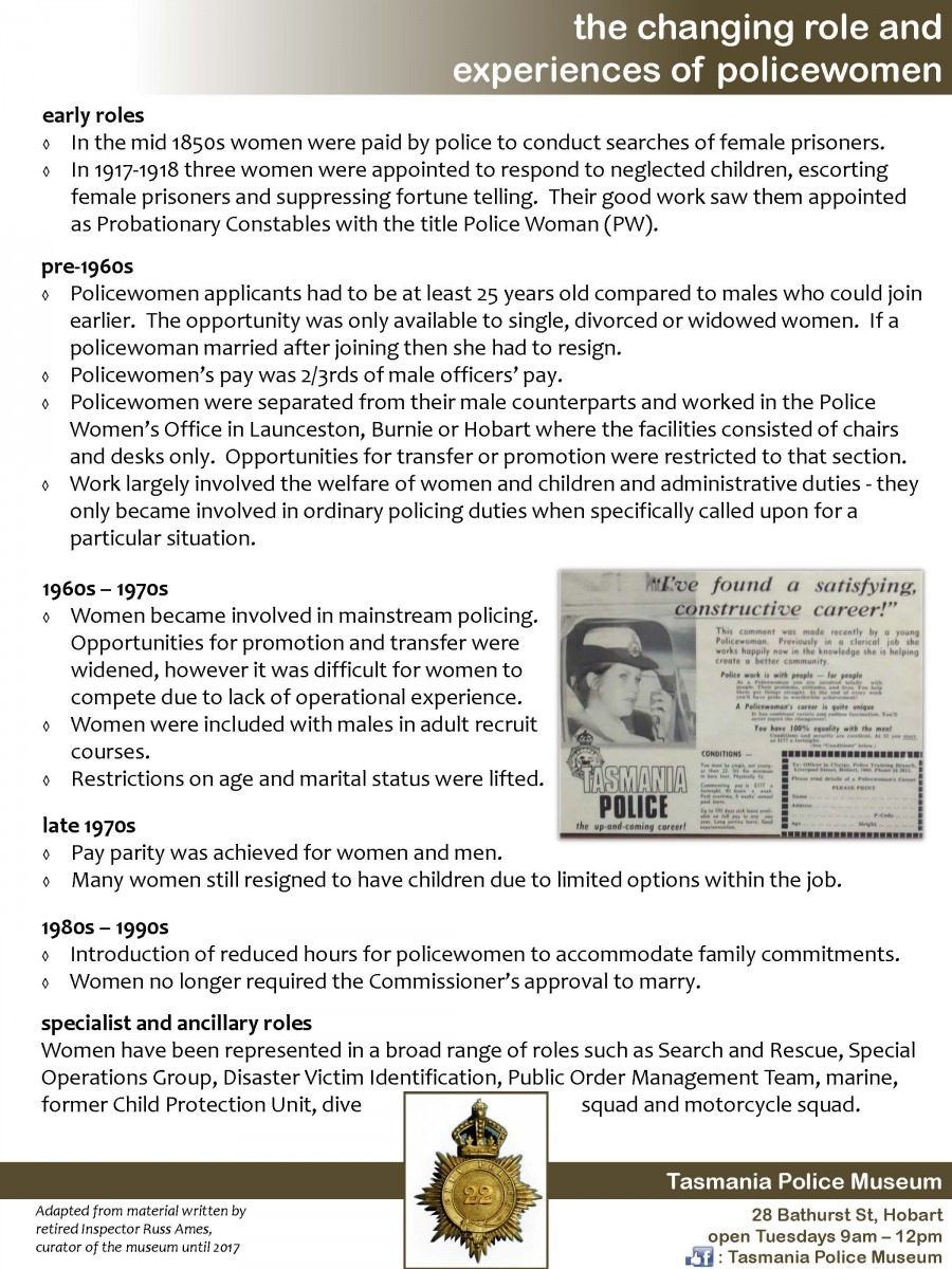 Women in Policing Timeline part-2