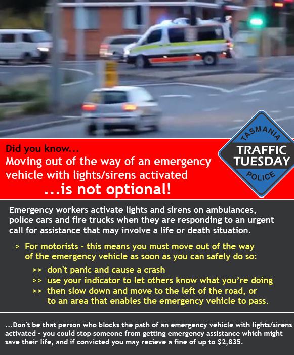 44 – Emergency Vehicles - Tasmania Police