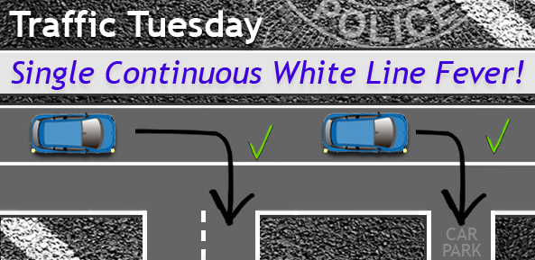 Traffic Tuesday Graphic Single Continuous White Line