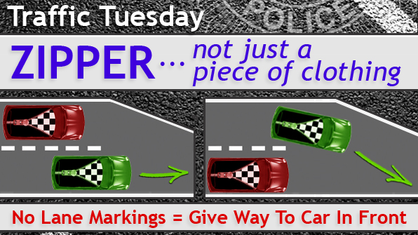 Traffic Tuesday graphic - Zipper