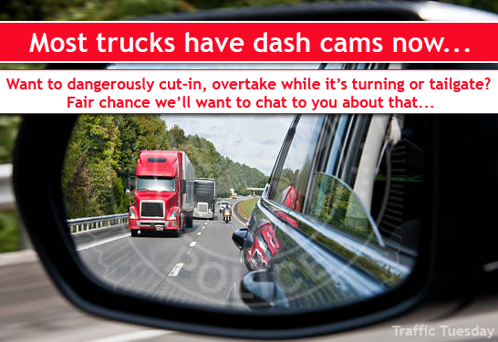Traffic Tuesday Truck Safety graphic