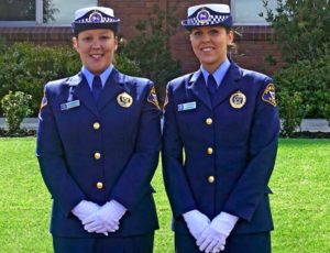 Constable Abbie Weidinger (Dux) and Constable Josie Crowden (Runner-Up Dux) of Recruit Course 1/2017
