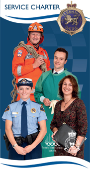 Tasmania Police Service Charter brochure cover page.