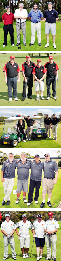 Telstra and Tasmania Police Charity Trust Golf Day participants.
