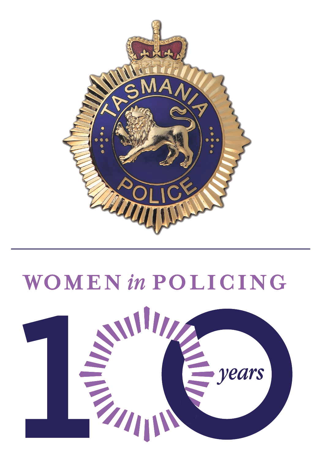 Tasmania Police 100 Years of Women in Policing logo